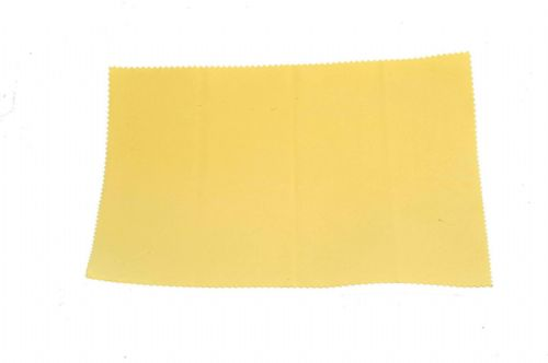 High Quality Large Microfiber Optical Cleaning Cloth 24x20cm Yellow